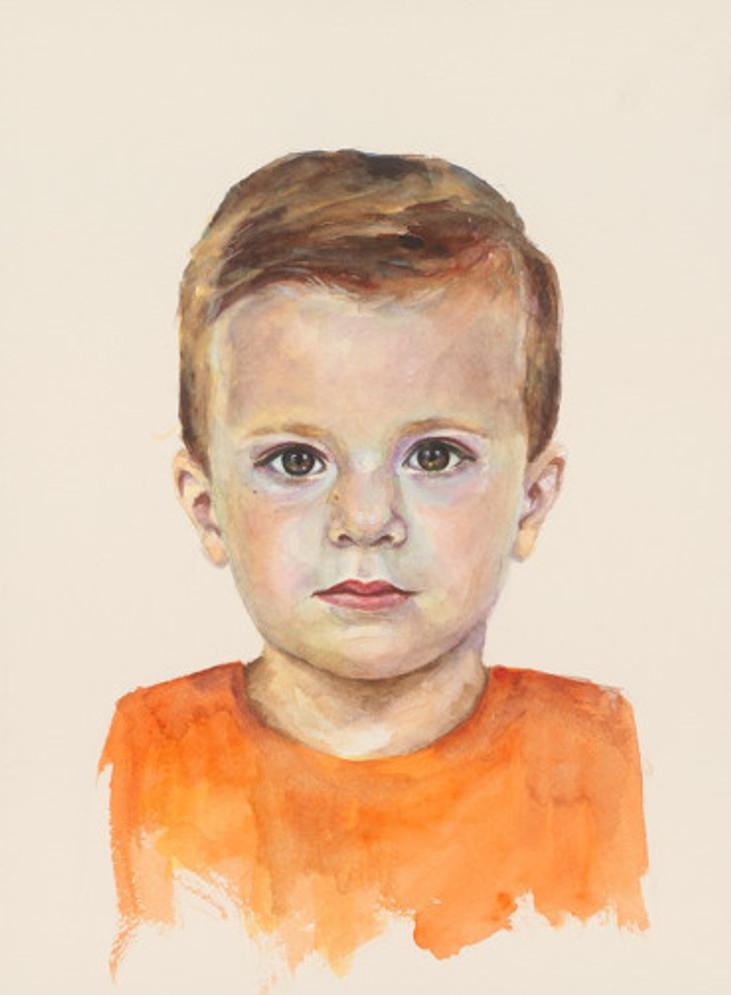 πορτρέτο,ακουαρέλα σε χαρτί,28Χ38 cm.,2017_6