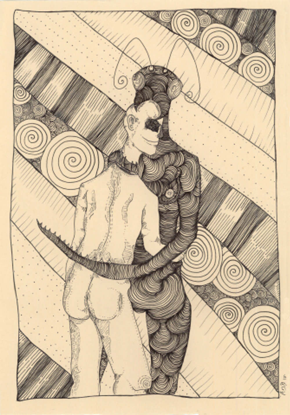 split no3, 42x29.7 cm, inking pen on paper, 2017
