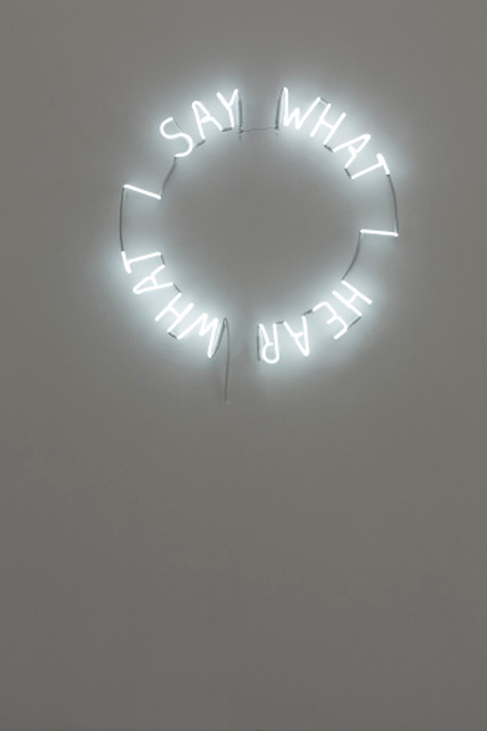 I hear I say, neon tube, Ø 70 cm, 2018