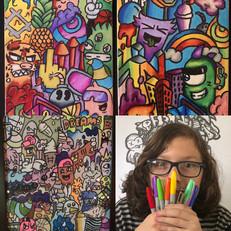 Collage of Doodles & @thekyancorrea