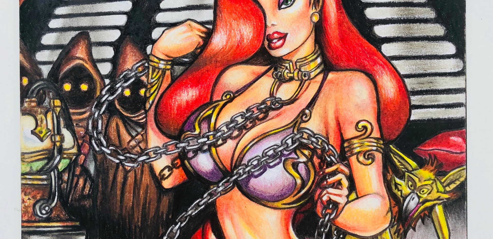 Jessica Rabbit as Princess Leia Comic Cover