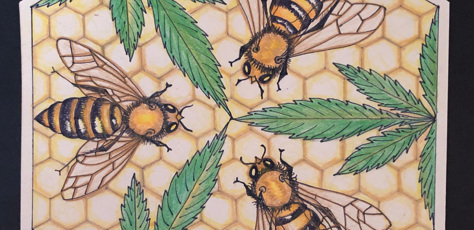 Honeybee's Hemporium Logo