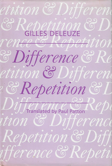 Difference & Repetition