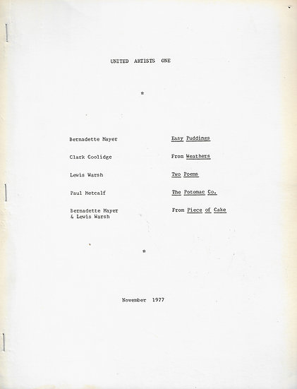 United Artists, Nos. 1-16