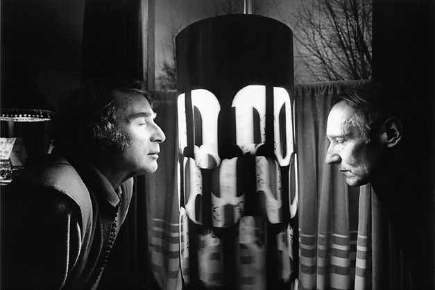 Brion Gysin and William S. Burroughs basking in a dream machine