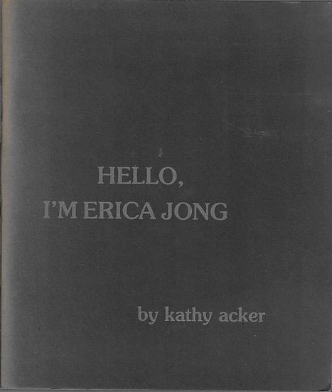 Hello, I'm Erica Jong