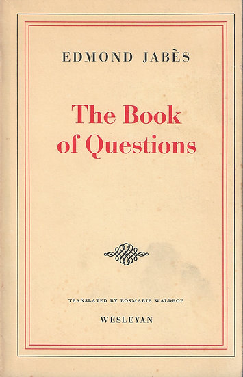 The Book of Questions, I-III
