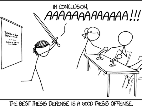 Tips to defend your PhD. Thesis