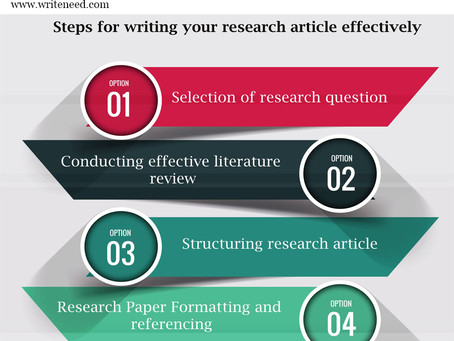 How to write an original research article- tips for research scholars