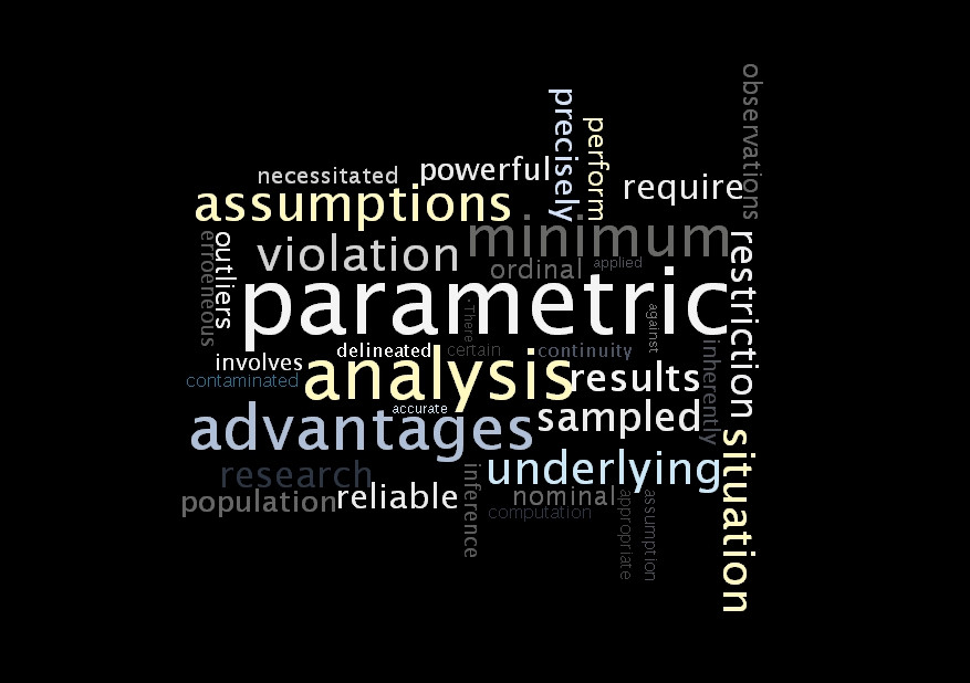 The advantages of non-parametric methods