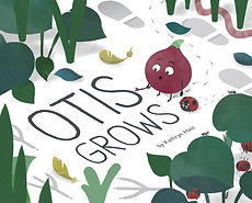 Otis Grows cover, featuring a red onion with a surprised look on his face