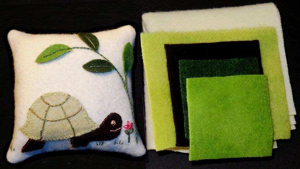 Turtle Pin Cushion Kit with Pattern