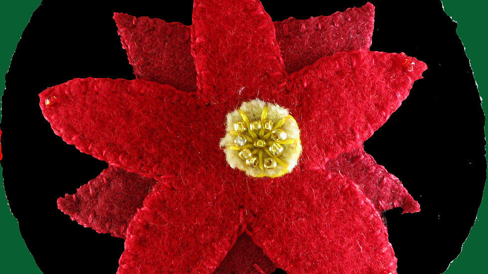 Poinsettia Ornament Kit with Pattern