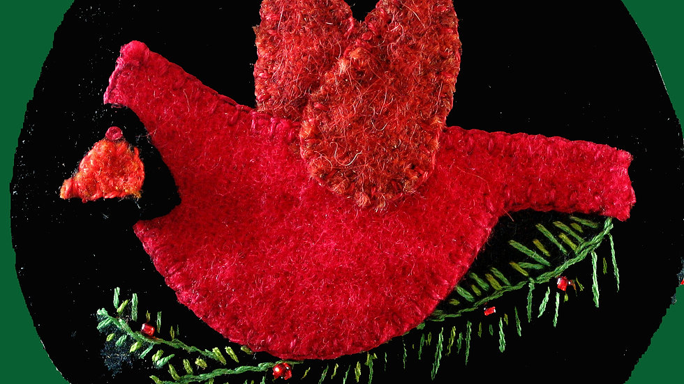 Cardinal Ornament Kit with Pattern