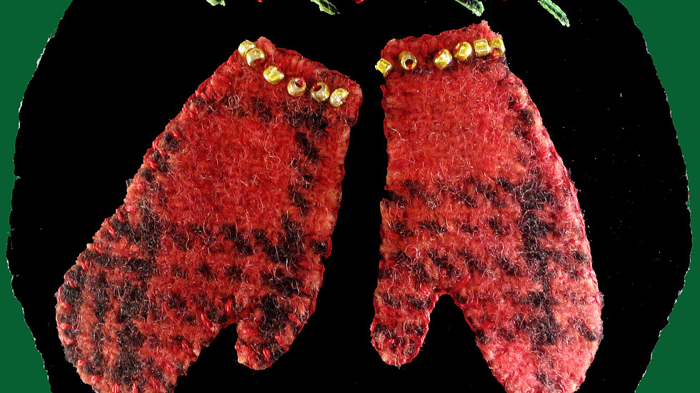 Mittens Ornament Kit with Pattern