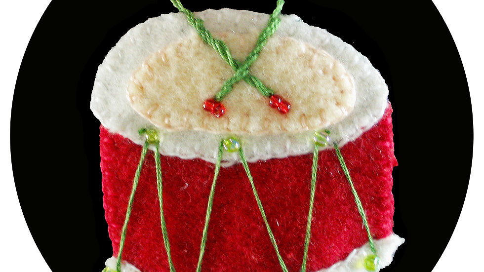 Drum Ornament Kit with Pattern
