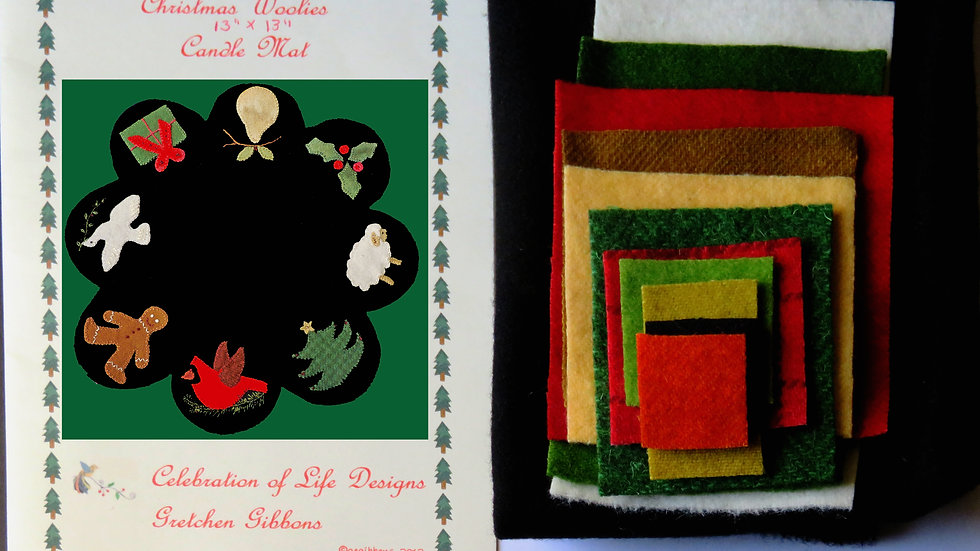Christmas Candle Mat Kit with Pattern