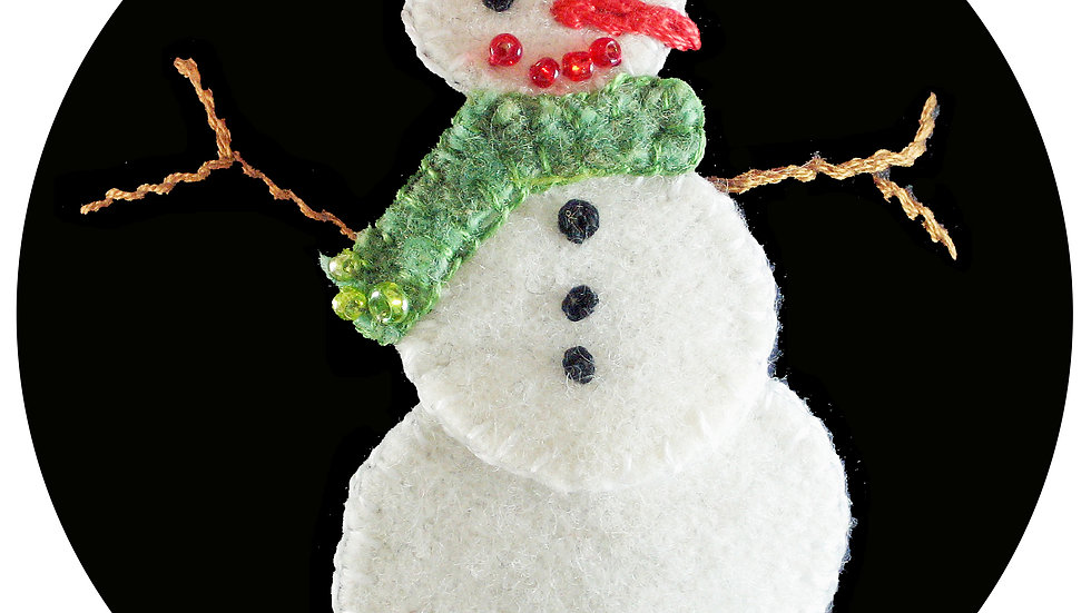 Snowman Ornament Kit with Pattern
