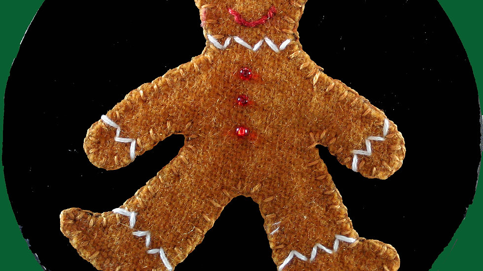 Gingerbread Man Ornament Kit with Pattern