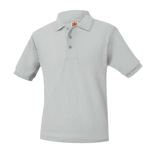 BIBLE BAPTIST GREY S/S POLO
