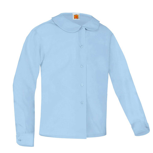 SJE LIGHT BLUE L/S PETER PAN BLOUSE