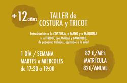 Horarios Taller Costura/Tricot Niños