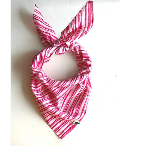 Bandana -  Pink tribal  Stripes print Cotton/ Table Napkin