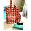 Thumbnail: Tote Bag - Large Fabric Bag - Box Gusset - red - 2 pocket