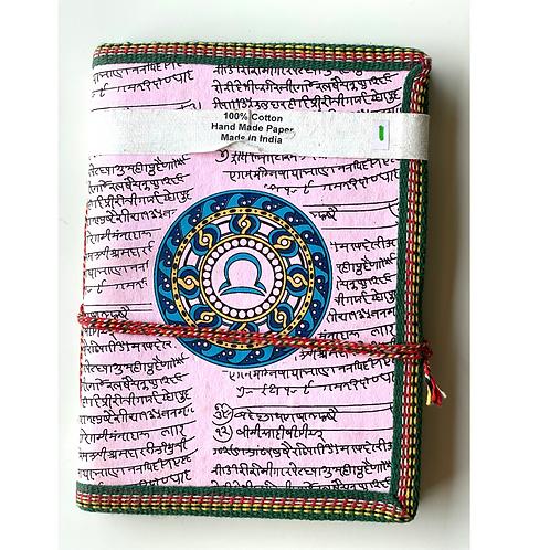 Handmade Paper Journal - Taurus Pink Zodiac gift