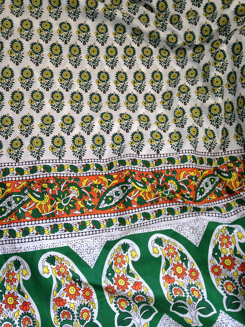 copy of Yellow Floral Fabric, Indian fabric, SS17, Flower Power, Fabric by the Y