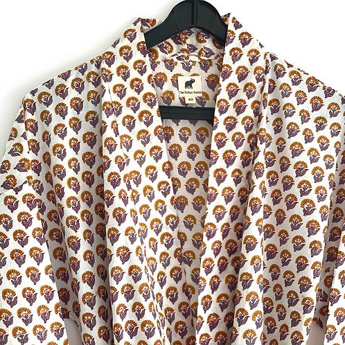 Robe /  Kimono- Cotton Daily Robe / Resort Beach Wear + bag