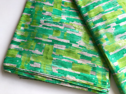 Indian Fabric by the yard, Printed Cotton Fabric, abstract Water color fabric,