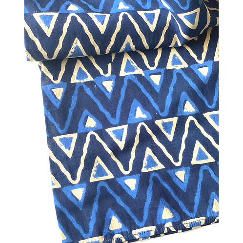 Bandana - Block Print Indigo Batik Cotton/ Table Napkin