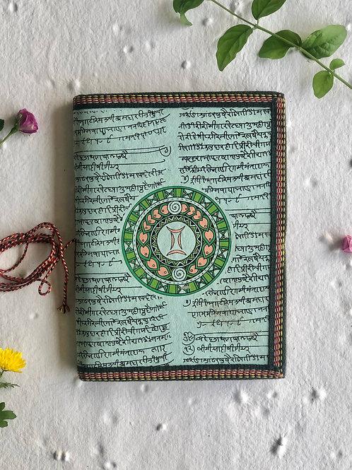 Handmade Paper Journal - Gemini Astrological Zodiac Gift