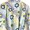 Thumbnail: Robe / Kimono  - Blue Yellow Lounge wear + matching bag + mask