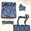 Thumbnail: Robe / kimono - Grey Viscose Lounge wear + matching bag + mask