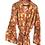 Thumbnail: Robe / kimono  - Orange Yellow Block Print Lounge / Resort Wear