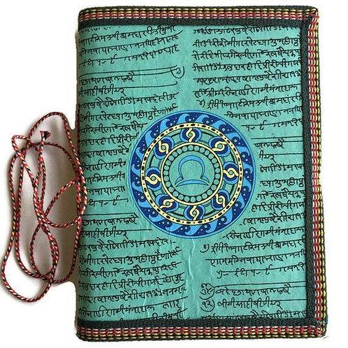 Handmade Paper Journal - Zodiac Gift Libra Green Journal