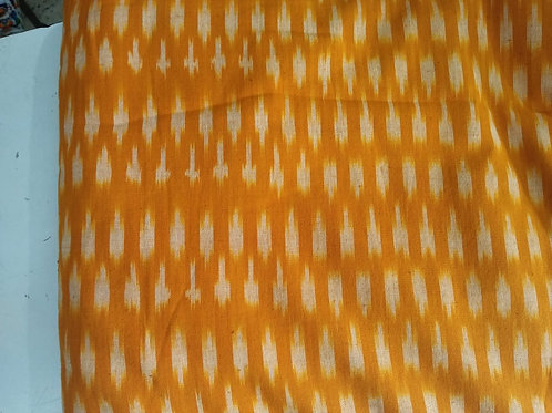 Mustard Ikat Fabric, Ikat Weave fabric, 44 inches width, Indian Ikat, Cotton Fab