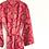 Thumbnail: Robe / kimono  - Red baroque Lounge wear + matching bag + mask