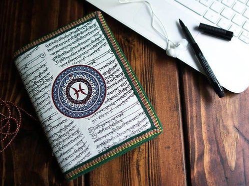 Handmade Paper Journal - Pisces Astrological Zodiac Gift