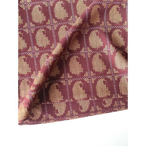 Bandana -  Dark Brown Floral Block Printed rayon / Headband