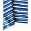 Thumbnail: Bandana - Block Print Indigo Stripes Cotton/ Table Napkin