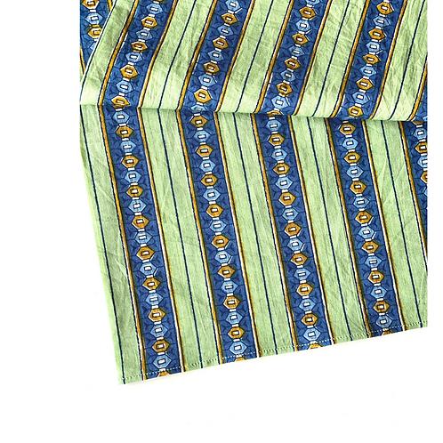 Bandana - Block Print Jewel Stripes Cotton/ Table Napkin