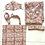 Thumbnail: Robe  / Kimono -  Brown Block Print Robe + matching bag + mask