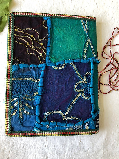 Hand Stitched Journal, Handmade Journal, Hand bound journal, Embroidered Cover