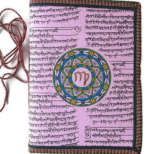 Handmade Paper Journal - Zodiac Gift Virgo Pink Journal Gift