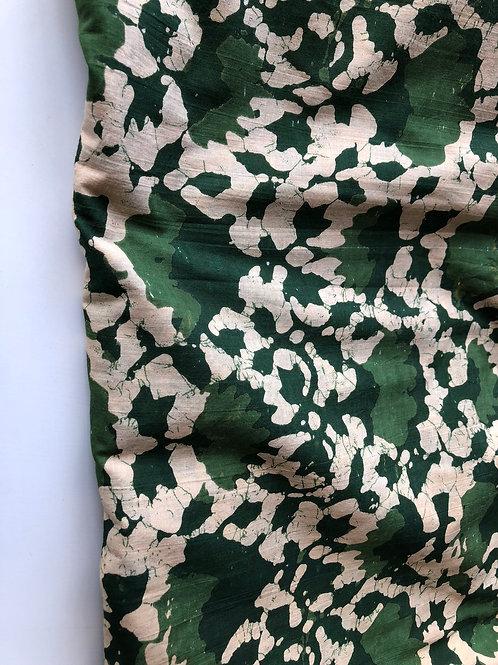 Batik Print, Indian Cotton, Indian Fabric, Green Batik Fabric, printed batik fab