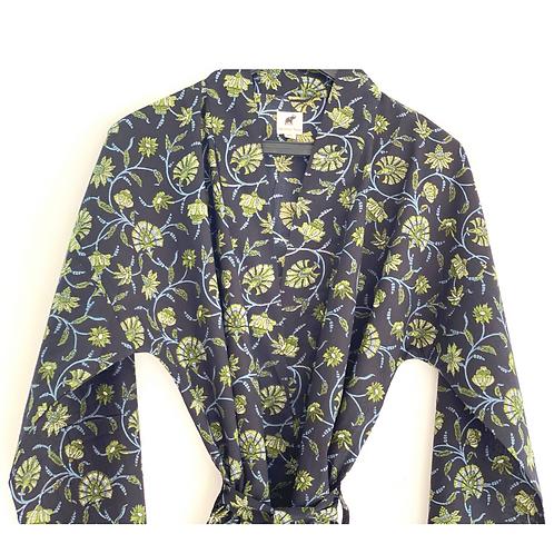Robe / Kimono  - Blue Floral Fields Lounge / Everyday Comfort