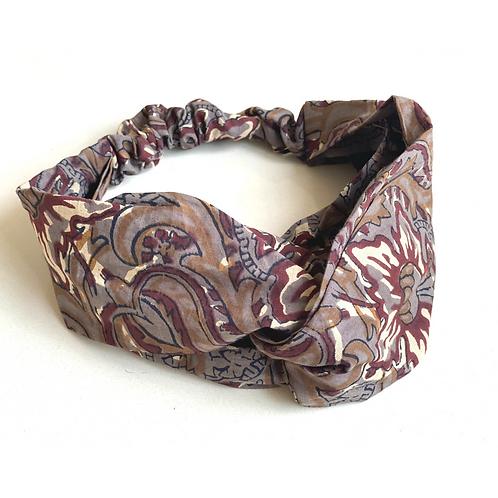 Twisted Turban Headband - Women + Girl - Brown Madder Flower